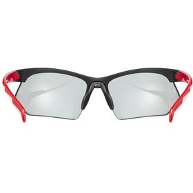 UVEX Sportstyle 802 V Glasses, black red white/smoke